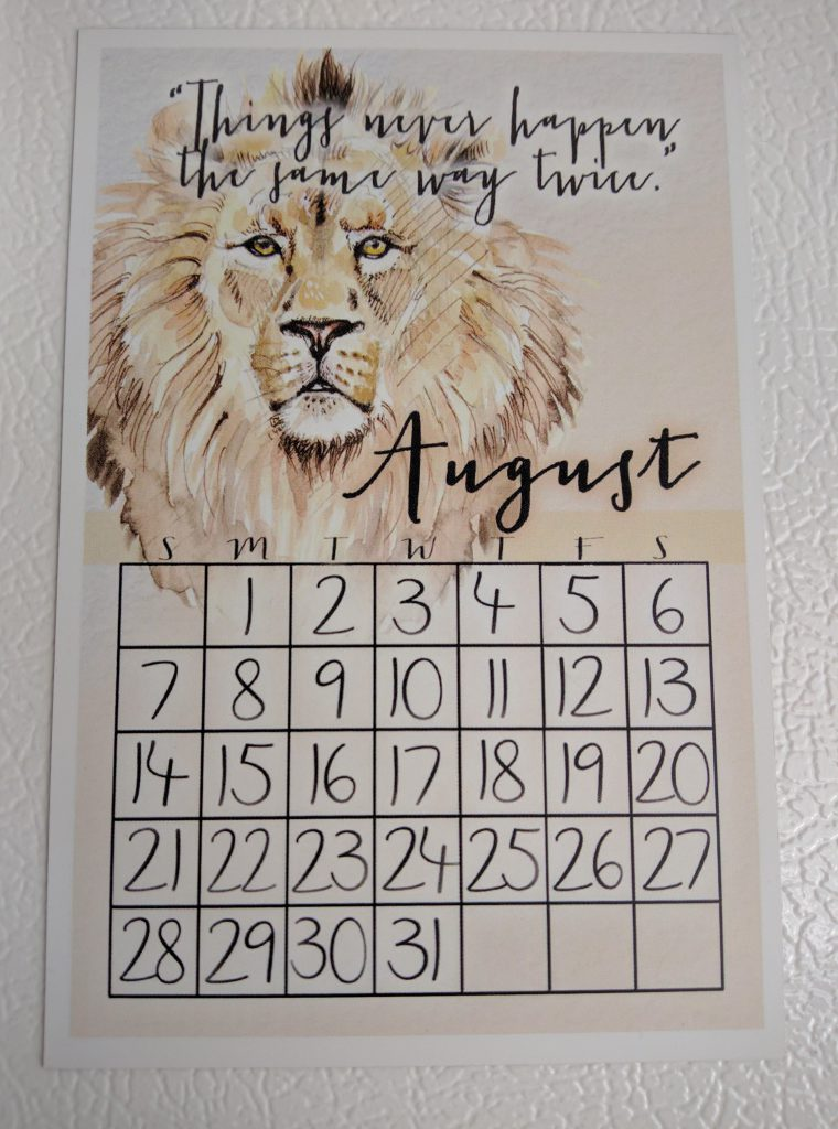Half-Blood Prints Calendar Magnet